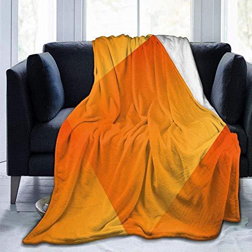 HGGZJUA Mantas,Caleidoscopio Naranja Soleado Manta De Piel Súper Suave,Cálida Y Acogedora con Sofás/Sofá/Sillas/Sofá - Ligero,Cálido Y Acogedor 80'X60'In