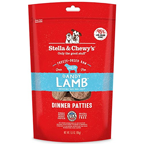 Stella & Chewy's Freeze-Dried Raw Dandy Lamb Dinner Patties Dog Food, 5.5 oz. Bag
