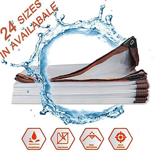 NaDrn Lonas Impermeables, Lona de Protección, Lona de PVC con Ojales y Bordes Reforzados, Lona para Exterior/Suelo Camping/Piscina/Camiones,5x5m/16x16ft