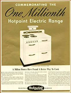 1941 Advertisement commemorates one-Millionth Hotpoint Electric Range Original Paper Ephemera Authentic Vintage Print Magazine Ad/Article