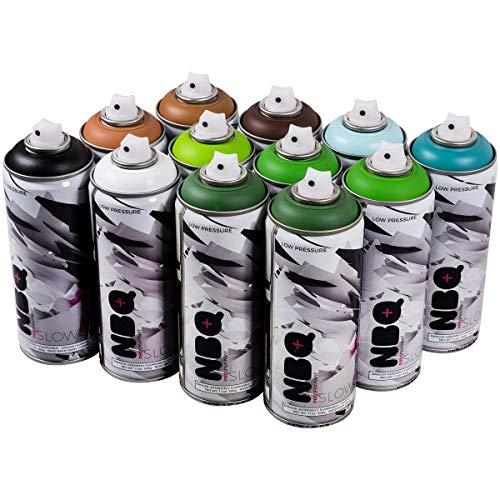 NBQ Pro - Set de 12 Pintura para Pared (400 ml)