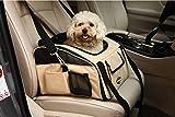 Plegable Portador de viaje del Asiento de coche para Mascotas Perros y Gatos, Marrón