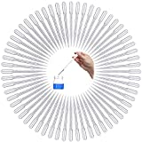 100 piezas Pipetas de Transferencia de Plástico, Gotero Pipetas De Plastico, Graduado Pipetas de Medición Desechable, para laboratorio, investigación de alimentos, medicina