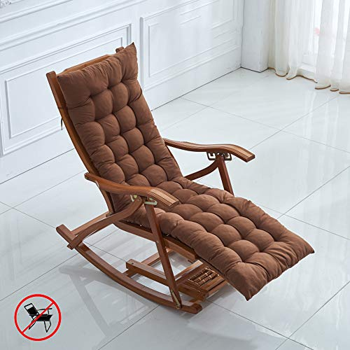 VIVOCFan Universal Rocking Chair Cushion,Recliner Relax Sun Lounger Cushion,Patio Wicker Chair Cushion,Washable Chair Pad Mat,No Chair C 155x48cm(61x19inch)