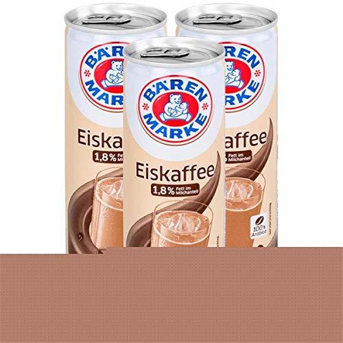 Bärenmarke Eiskaffee 0,25 Liter Dose - 1,8% Fett im Milchanteil - 100% Arabica (3er Pack)