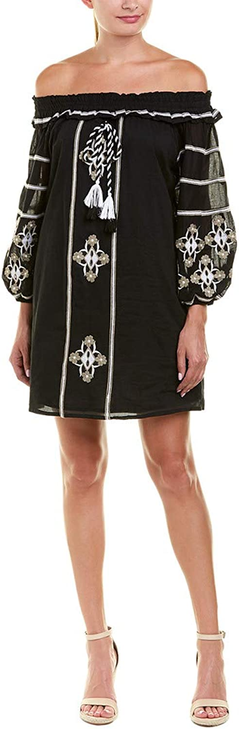 Catherine CATHERINE MALANDRINO Womens Embroidered OffTheShoulder Casual Dress