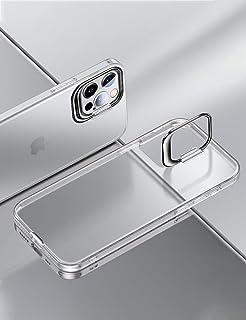 最新型 iPhone12 Pro Max ケース アイフォン12プロマックス 対応 Uovon クリア TPU カバー スタンド機能 黄ばみ防止 カメラレンズ保護 耐衝撃 指紋防止 スマホケース • クリア