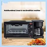 SZDL máquina de Desayuno casero, Tres-en-uno Horno eléctrico, cafetera, Doble Cara Calentar pequeña tostadora (1100W)