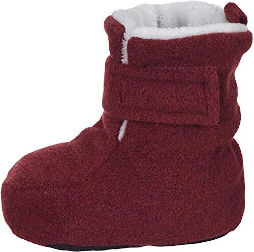 Sterntaler Jungen Mädchen Baby-Schuh Stiefel, Rot (Dunkelrot Mel. 890), 16 EU