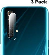 واقي شاشة لعدسة الكاميرا الخلفية من XINKOE لهاتف Oppo Realme X50 Pro 5G، [3 عبوات] رفيع للغاية 2.5D عدسة كاميرا عالية الدقة طبقة واقية من الزجاج المقوى - شفاف
