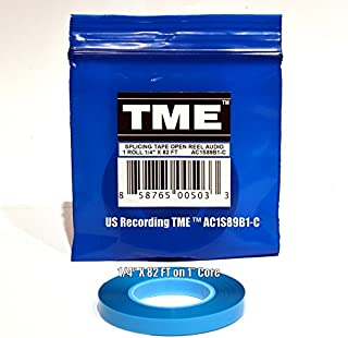 TME Open Reel Audio Splicing Tape Blue Color 1/4 in X 82 Ft in Logo Poly Pack for RMGI Quantegy Maxell AMPEX ATR Media AC1S89B1C
