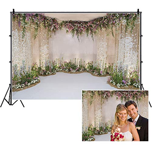 Wedding Photos Backdrop Yeele 10x8ft Floral Flowers Wall Photography Backdrop Anniversary Ceremony Bridal Shower Wedding Reception Birthday Party Dessert Table Decorations Banner Photographic Studio