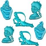 alles-meine.de GmbH 3D Effekt _ 6 TLG. Set _ Keks & Plätzchen Ausstechformen - Disney die Eiskönigin - Frozen - BPA frei - Ausstecher - Kinderküche - Kekse - Plätzchenset - Keksa..