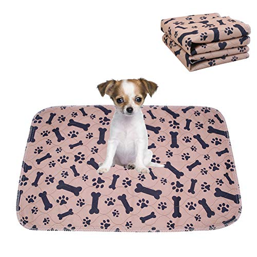 Confezione da 2 tappetini per addestramento cuccioli, lavabili e riutilizzabili, super assorbenti, ad asciugatura rapida, impermeabili
