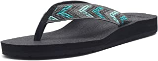 EQUICK Women's Flip Flops Arch Support Yago Mat Insole Sandal Casual Slipper Outdoor and Indoor