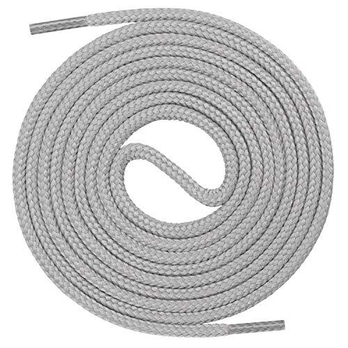 Mount Swiss runde Premium-Schnürsenkel für Business- und Lederschuhe - reißfester Allroundsenkel - ø 3mm - Farbe Grau Länge 80cm