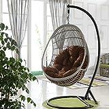 Yuany Schaukelstuhl-Kissenauflagen, Eier-Hängesessel-Kissen Eierförmiger Stuhl für Garten-Terrassenmöbel im Außen- / Innenbereich, 90 x 120 cm (Farbe: Braun)(KEIN Stuhl)