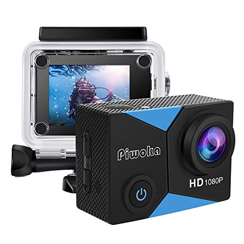 Piwoka Cámara Deportiva HD1080P 12MP Impermeable 30M acció