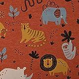 SCHÖNER LEBEN. Jersey Melange Wild Animals Löwe Nashorn