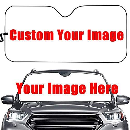HONGGE Adecuado para o GM Windshield Sunshade Art Design, Coche Sombrilla de protección Interior Pegatinas de Protección Moda (Color : Customize HC)
