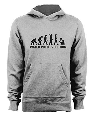 t-shirteria Felpa con Cappuccio Water Polo Evolution - Evolution - Water Polo - pallanuoto - Sport - Humor - in Cotone