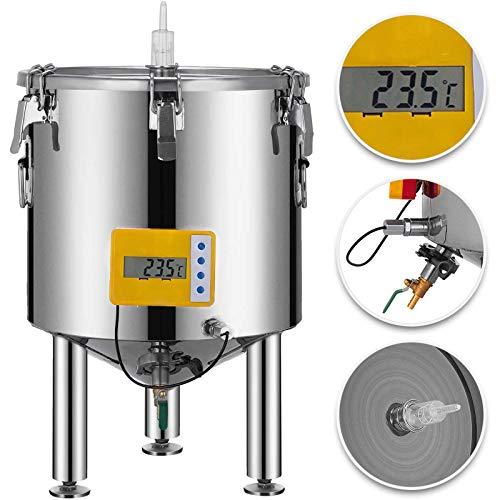 GIOEVO 50L Fermentatore per Fermentazione in Acciaio Inossidabile 304 Fermentatore per Birra a casa con Attrezzatura per Fermentazione a Base Conica