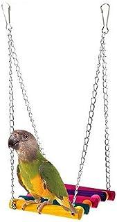 مستلزمات الحيوانات الأليفة بيت سعيد لطيف الطيور سلم خشبي تسلق الببغاء الببغاء الببغاوات بقفص الكوكاتيل أرجوحة لعبة تعليق