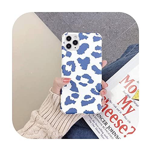 Funda de lujo con estampado de leopardo para iPhone 12 11 X XR XS Max suave contraportada a prueba de golpes para iPhone 7 8 6 6s Plus Case-bao dian-para iPhone 8 Plus
