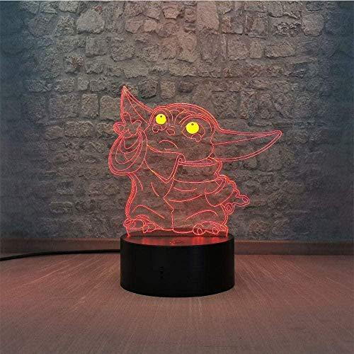 Baby Spielzeug 3D Illusionslampe LED Nachtlicht League der Legenden Xayah Figur Bunte Geschenk für Gamer Kinder Bedoom Decor Tischlampe LOL Der Rebell-N11.