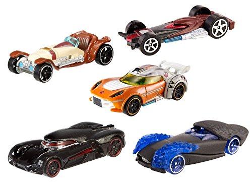Hot Wheels - CKK83 - Véhicule Miniature - Modèle Simple - Pack De 5 véhicules Star Wars