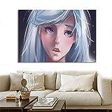 wZUN Imagen de Cartel de Estilo nórdico, Arte de Pared, animación, Serie de TV, Lienzo, Pintura al óleo, Sala de Estar, decoración del hogar 60x80 Sin Marco