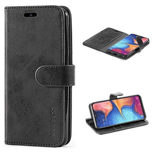 Mulbess Cover per Samsung Galaxy A20e, Custodia Pelle con Magnetica per Samsung Galaxy A20e [Vinatge Case], Nero