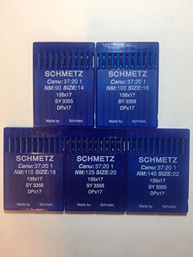 SCHMETZ 50pcs Size 14 16 18 20 22 135x17 DPx17 Walking Foot Sewing Machine Needle