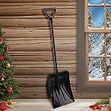 Haojie Tragbare Schneeschaufel Faltkelle einziehbare Werkzeuge mit Griff Aluminiumlegierung...