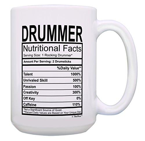 6. Drummer Coffee Mug