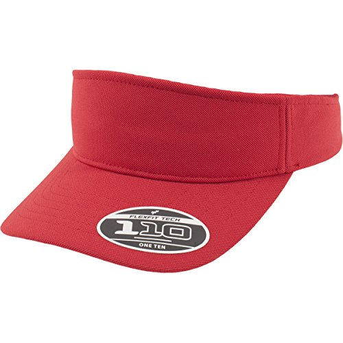 Flex fit 110 Visor Red One Size Casquette Unisex-Adult