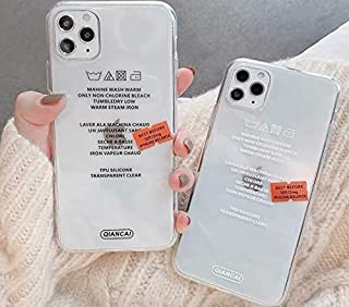 iPhoneケース シンプル ラベル 韓国 おもしろ ロゴ 透明 クリア iphoneカバー 携帯ケース 携帯カバー スマホケース スマホカバー iPhone7 iPhone8 iPhoneX iPhoneXs iPhoneXR iPhone1...