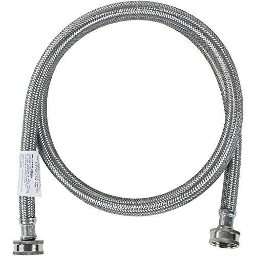 Certified Appliance Accessories Washing Machine Hose, Hot or Cold Water Supply Line, 4 Feet, PVC Core with Premium Braided Stainless Steel