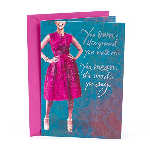 Hallmark Mahogany Birthday Card for Her (Woman), 5 x 7. 2 Inches