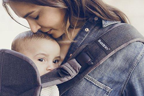 BabyBjorn Baby Carrier One-Denim Gray/Dark Gray, Cotton Mix