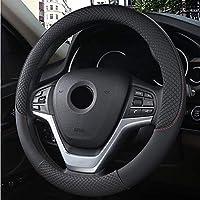車のハンドルカバーユニバーサル37 / 38cm滑り止め、通気性のある車のハンドルの保護カバーカーインテリアアクセサリー
