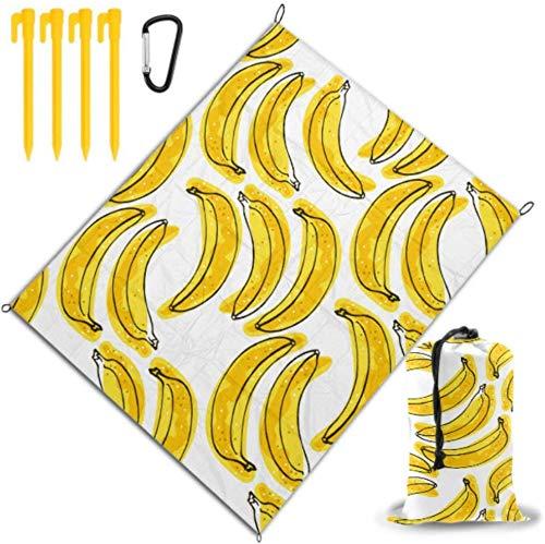 Estera de Picnic en la Playa Cartón Delicioso Amarillo Banana Manta de Toalla de Playa Impermeable y de Secado rápido para Viajes, campamentos, Caminatas, Festivales de música