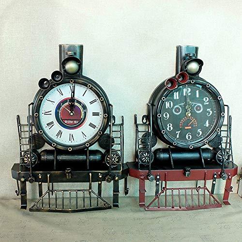 DAMAI STORE Lokomotiv Adornos De Reloj De Hierro Forjado A Mano De...