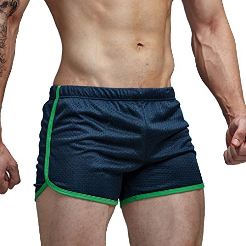 AIMPACT Mens Swim Trunks Swimming Shorts for Men Swimwear Square Shorts Fashion CausalBlueXXL