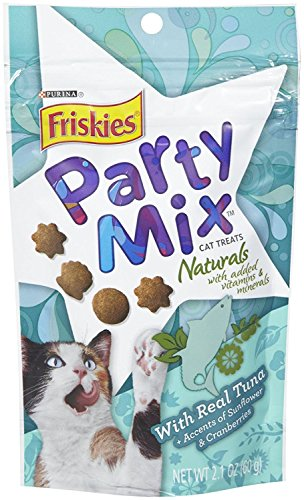 Friskies Case of 10 Party Mix Naturals with Real Tuna - 2.1oz