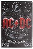 AC-DC Hell's Bells,812inch Carteles de Chapa Póster de Pared Hojalata Vintage Hierro Pintura Retro Metal Placa Arte Decoración para Hogar Bar Club Café