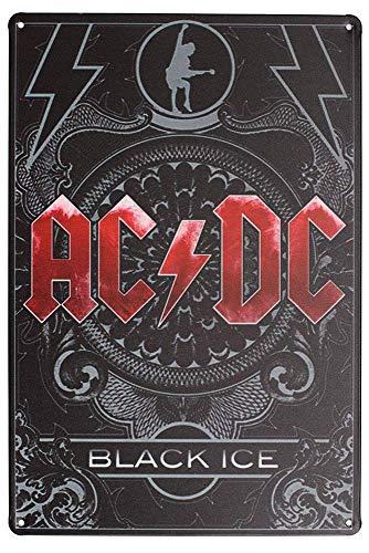 AC-DC Hell's Bells,812inch Carteles de Chapa Póster de Pared Hojalata Vintage Hierro...