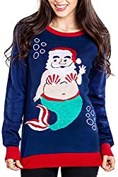 Santa Mermaid Christmas Sweater Cute and Funny Sweater for X-Mass