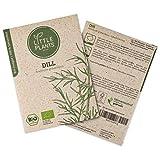 Little Plants BIO-Dillsamen (Anethum graveolens) Gewöhnlicher   BIO-Kräutersamen   Nachhaltige Verpackung aus Graspapier   Kräuter-Samen   BIO-Saatgut für ca. 700 Dill-Pflanzen