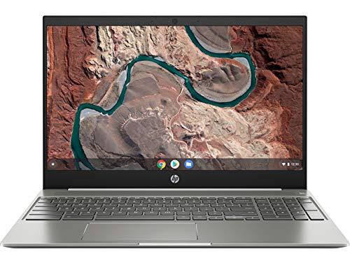 "2019 flagship hp chromebook 15. 6"" ips fhd 1080p touchscreen core i3-8130u 4gb 128gb emmc ceramic white (renewed)"
